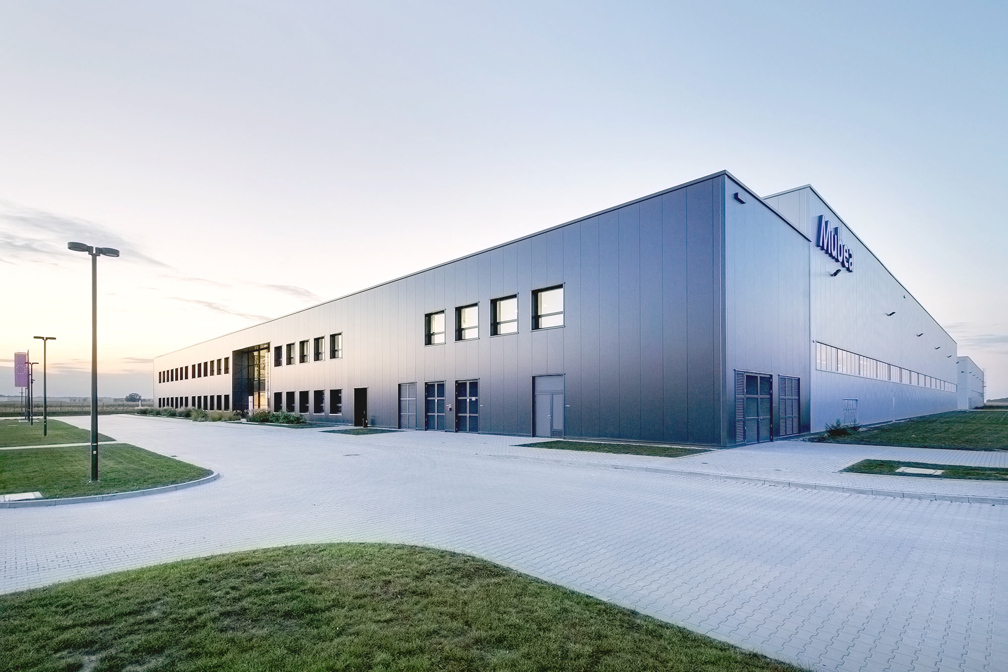 Mubea Automotive Factory in Ujazd Poland built by Takenaka Europe