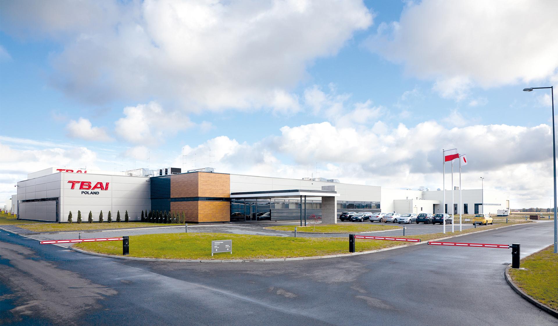 TBAI car seat factory in Wykroty Poland built by Takenaka Europe