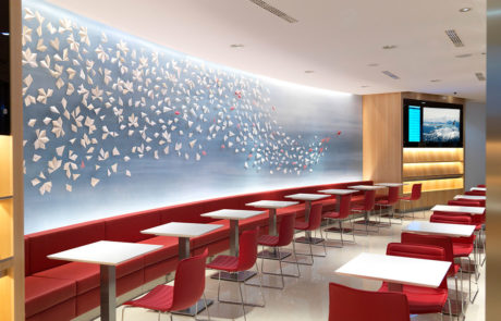 Air Canada Maple Leaf Airport Lounge Inside