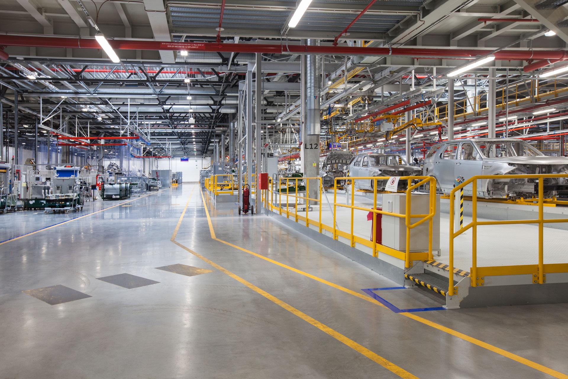 JLR body assembly shop in Nitra Slovakia