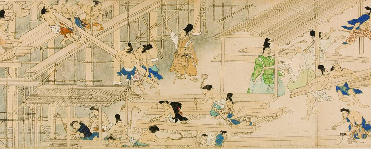 Takenaka Werte & Philosophie, Baumeister und traditionelle Bauweisen Japan